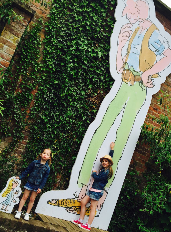 Roald Dahl Adventure: giant cardboard cut out of the BFG
