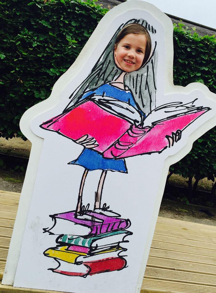 Roald Dahl Adventure: Tilly in Matilda cardboard cut out