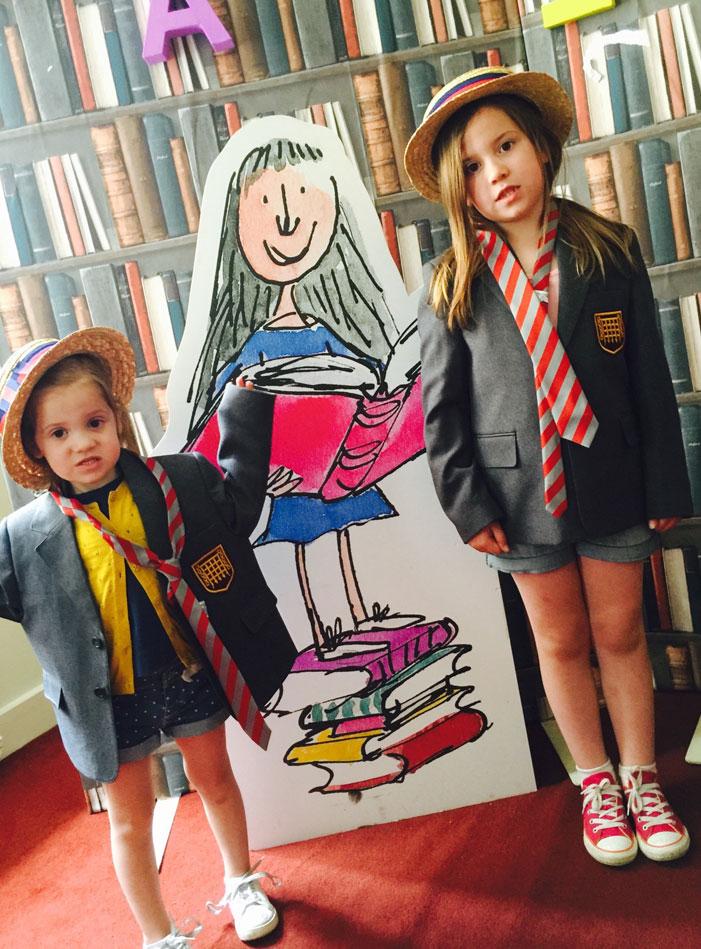 Roald Dahl Adventure: Tilly & Orla dressed in school uniform