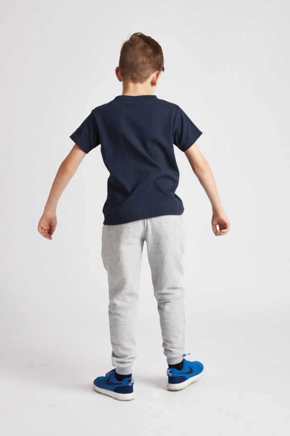 boys navy t-shirt rear view