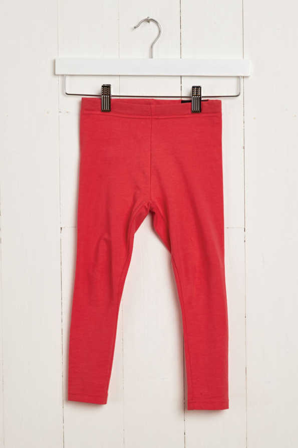 product view of girls coral leggings