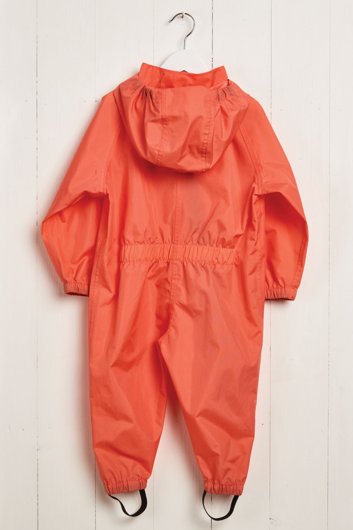 rear product view of kids coral stomper suit