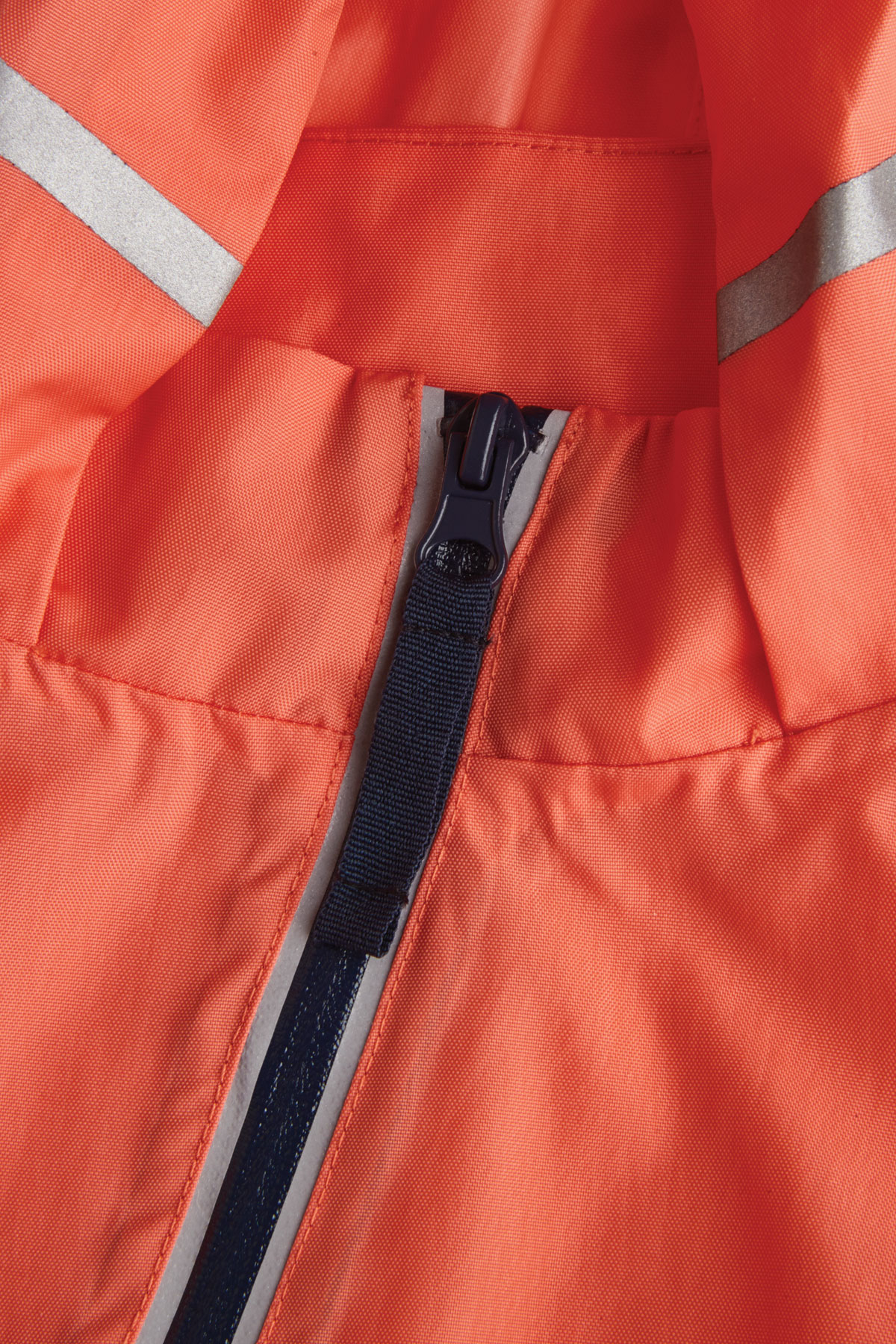 kids coral puddlesuit reflective zip and strip detail