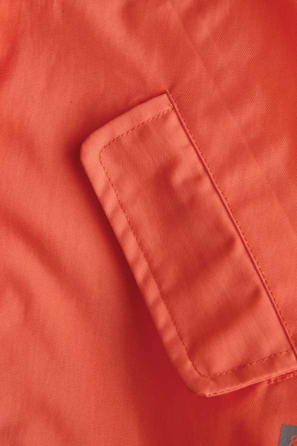 coral kids rain coat pocket detail