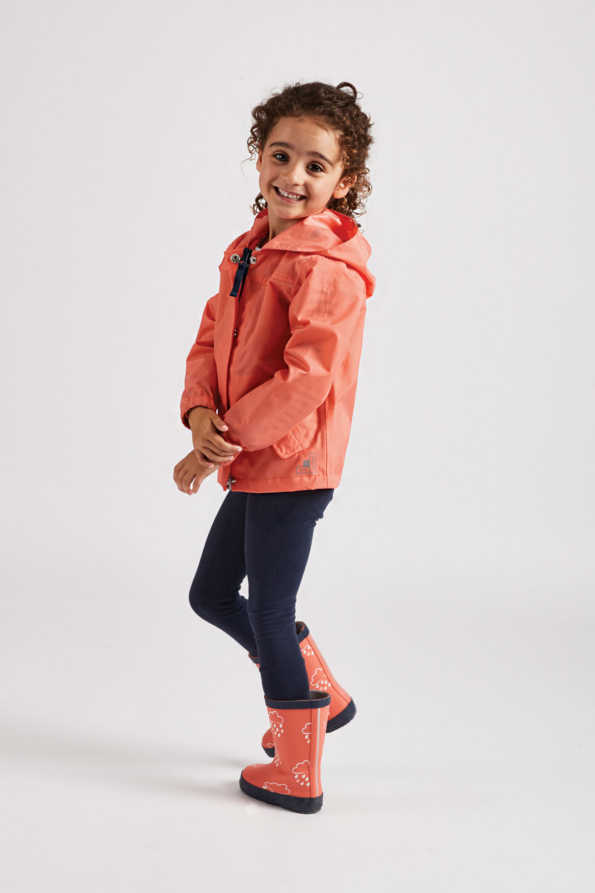 little kids coral rain jacket: Grass & Air infant coral Rain Cheater