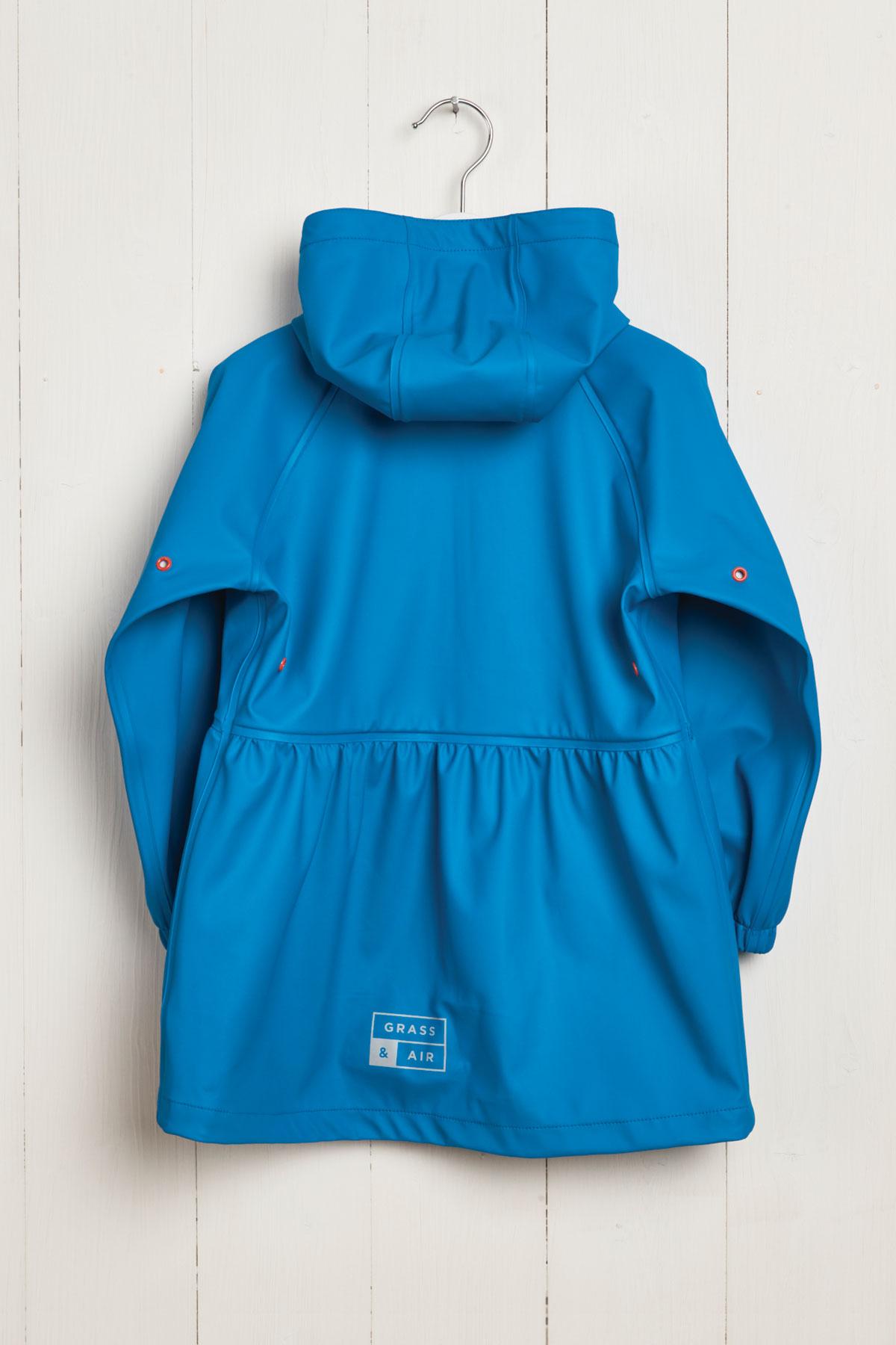 rear product hanger shot of girls turquoise rainster
