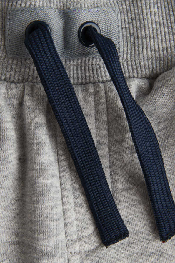 kids grey joggers drawstring detail