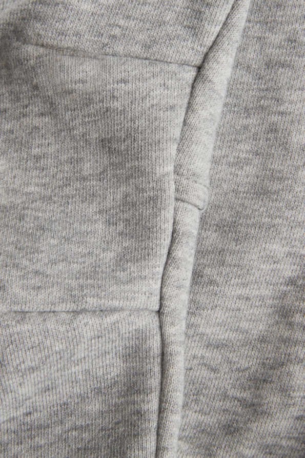 childrens grey jogging bottoms knee shape detail