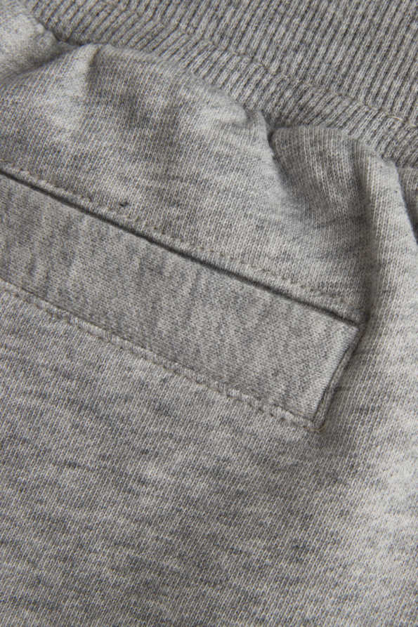 kids grey sweat pants rear pocket detail