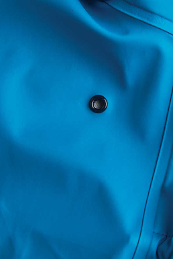 turquoise boys rainster eyelet detail
