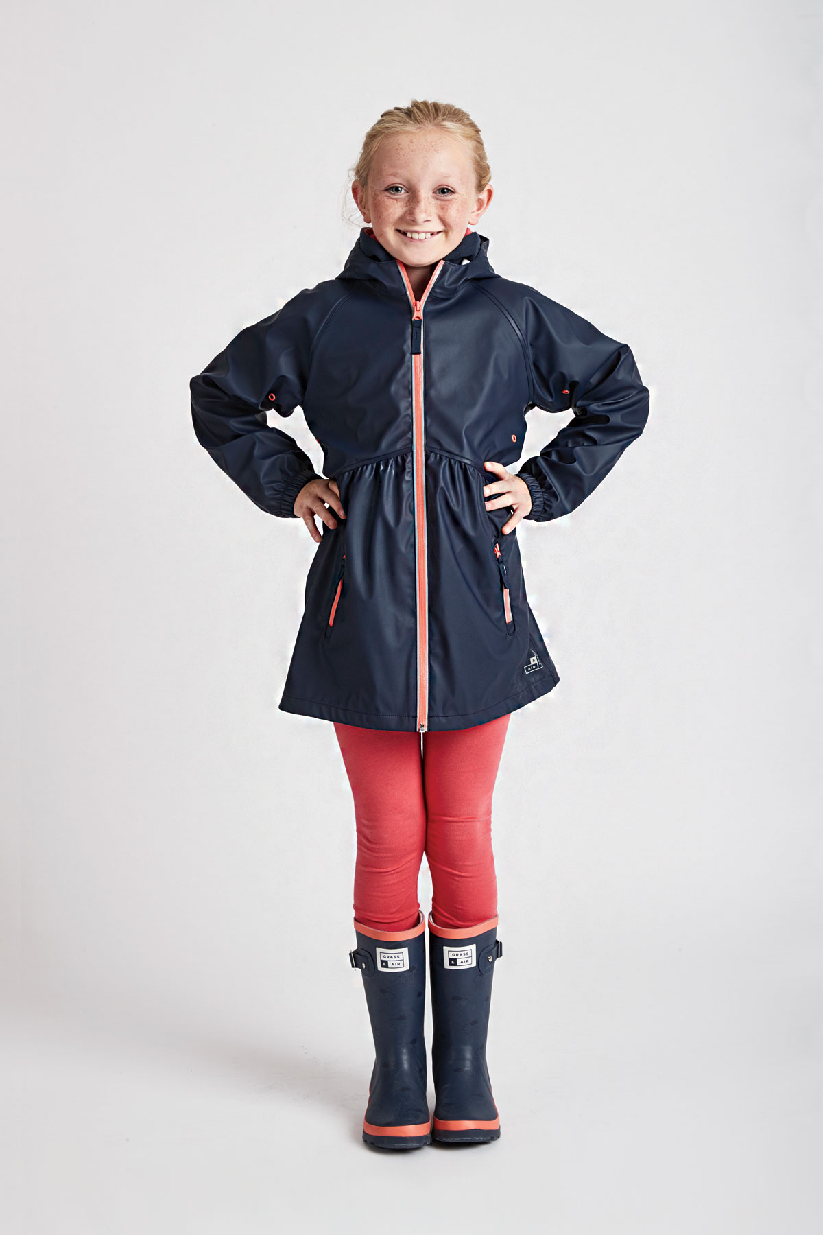 66ec0edf8 navy raincoat for girls: Grass & Air girls navy rain mac