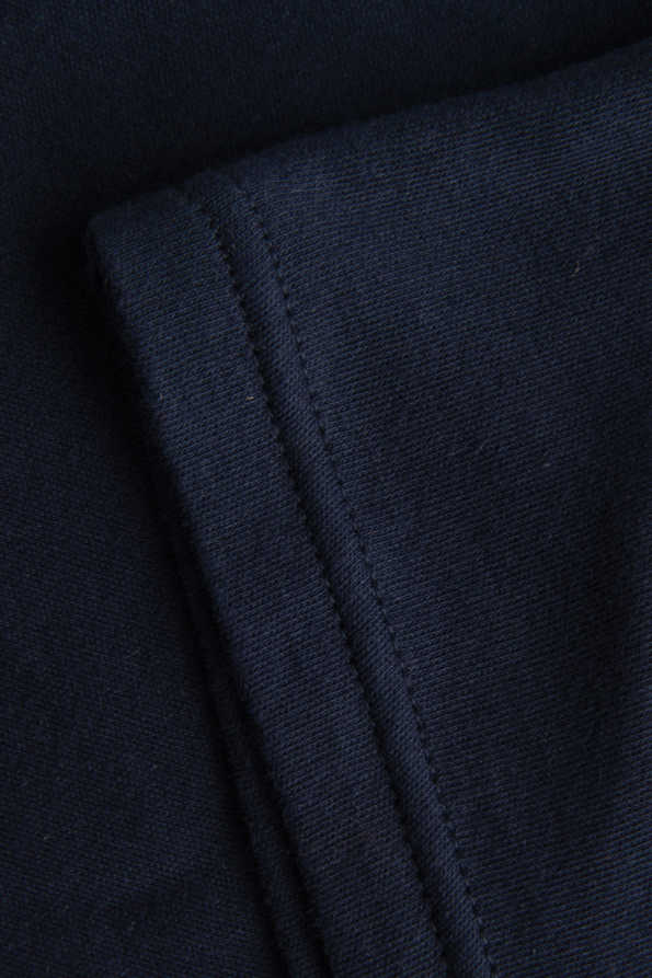 navy boys tshirt sleeve hem detail