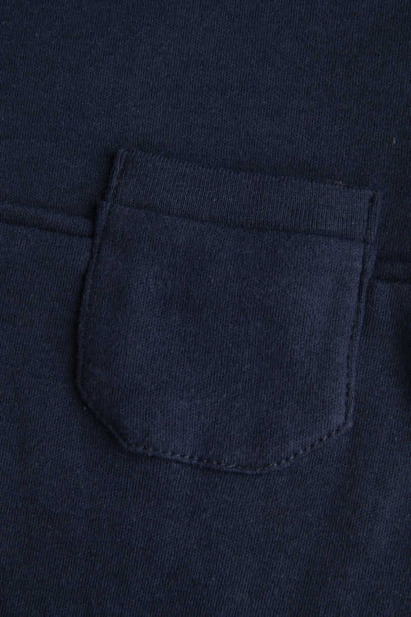 boys navy t-shirt pocket detail