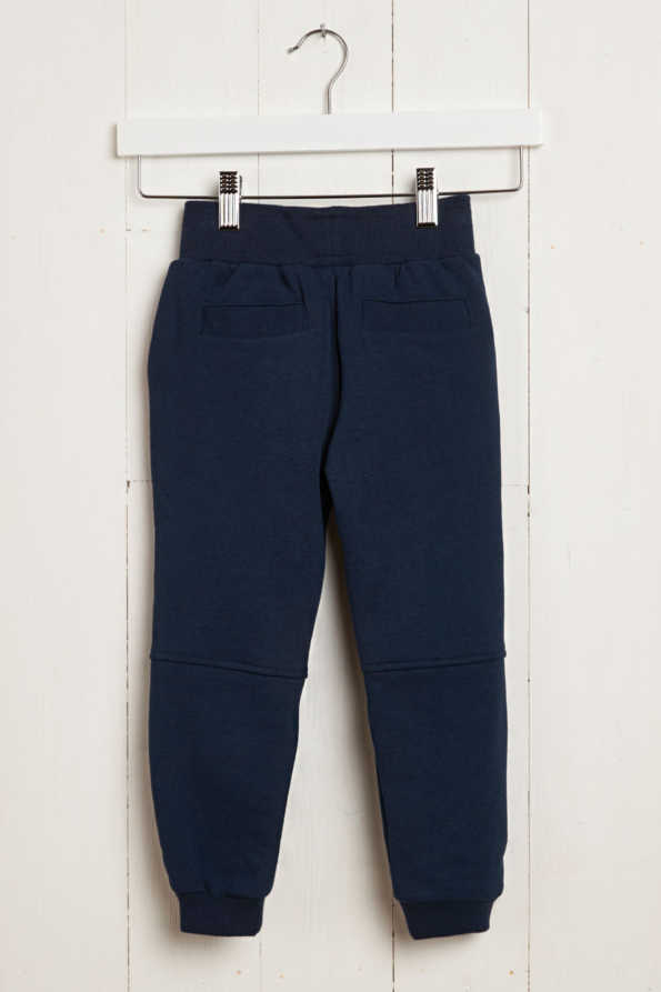rear product hanger shot of kids navy joggers