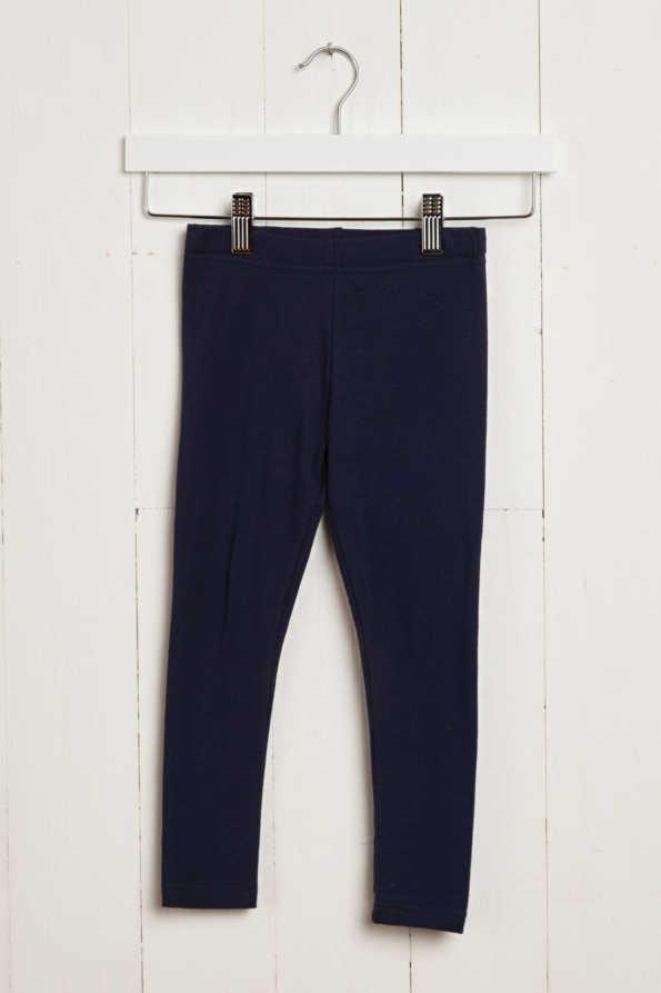 product hanger shot of girls navy leggings