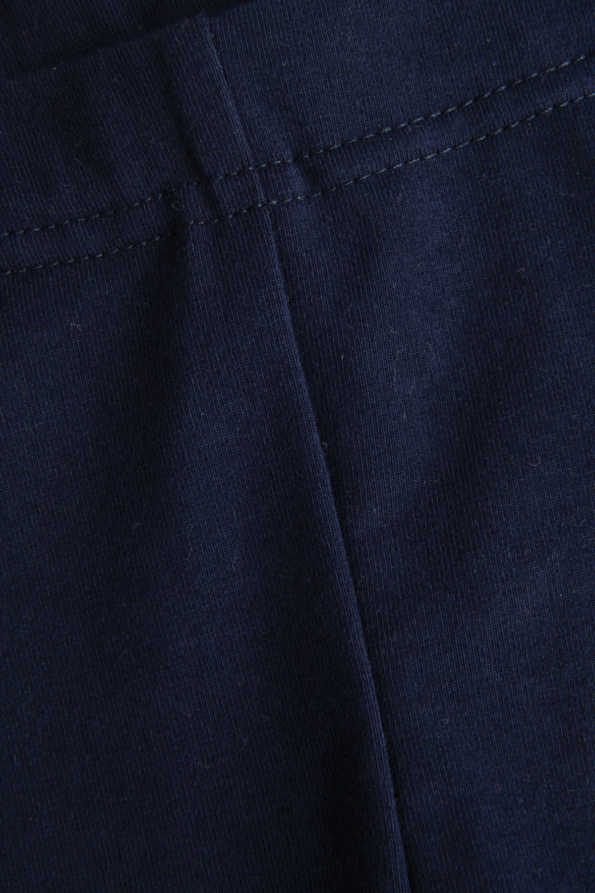 girls navy leg it leggings seam and waistband detail
