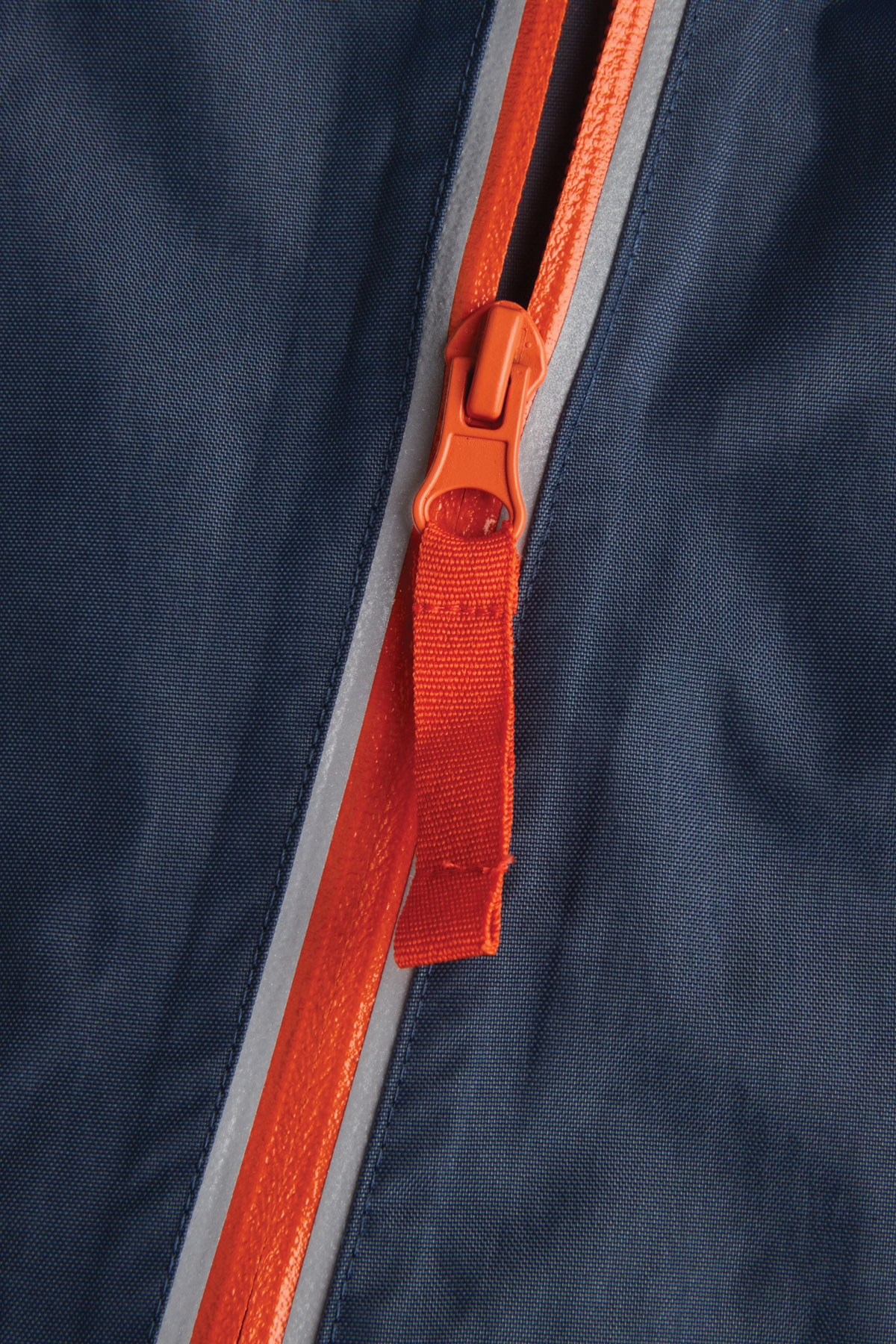 navy puddle suit reflective zip detail