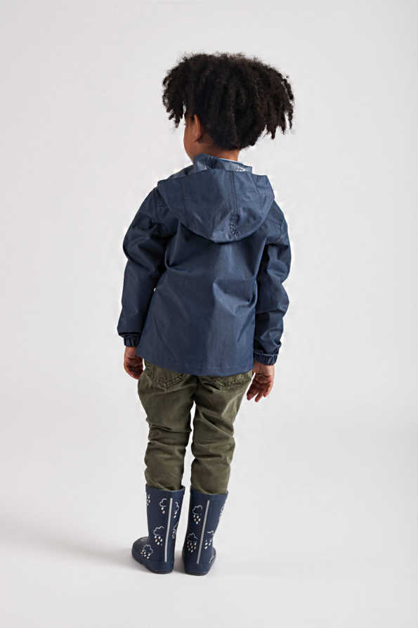 Grass & Air infant navy Rain Cheater - lifestyle rear view