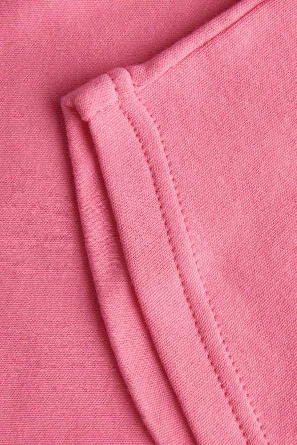 girls pink t shirt seam hem detail