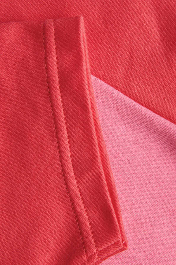 pink girls tshirt contrasting sleeve detail