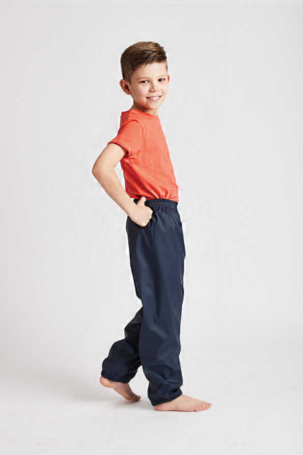 children's navy waterproof pants: Grass & Air unisex Rain Runners