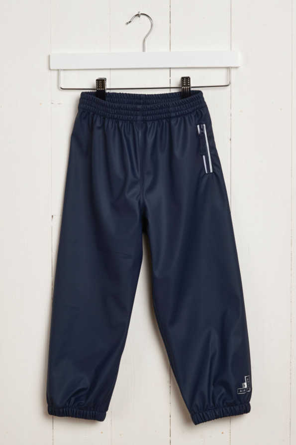 Grass & Air Rain Runners: Kids Navy Waterproof Trousers