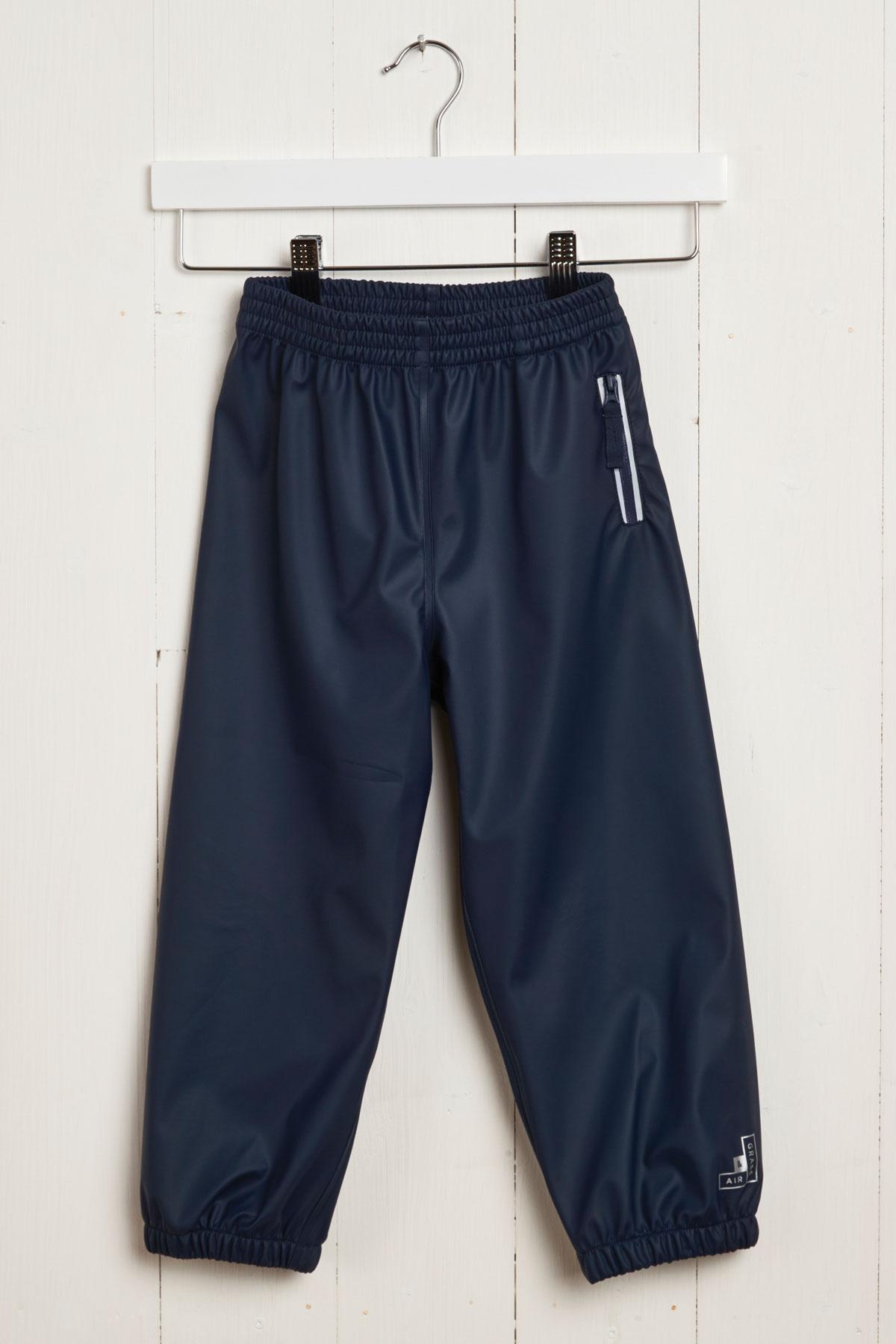 Grass & Air Rain Runners: Kids Navy Waterproof Trousers