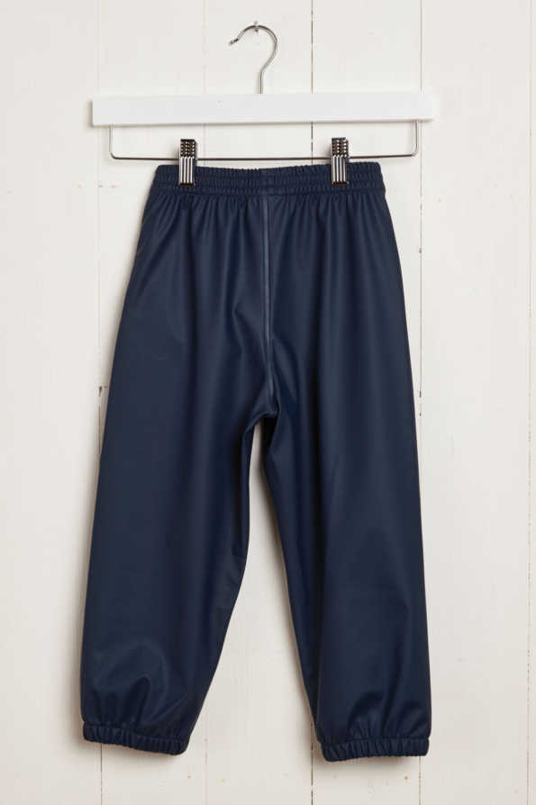 children's waterproof trousers: Grass & Air navy Rain Runners