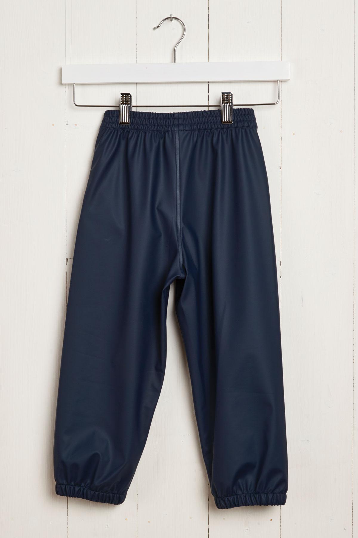 children's waterproof trousers: Grass & Air navy Rain Runners