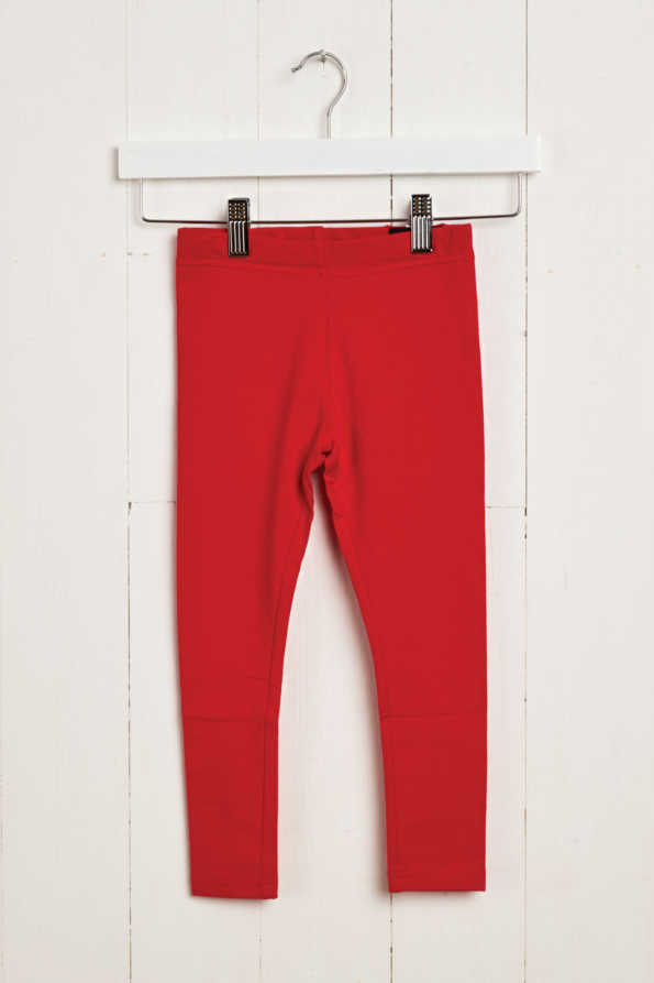 product hanger shot of girls red leggings