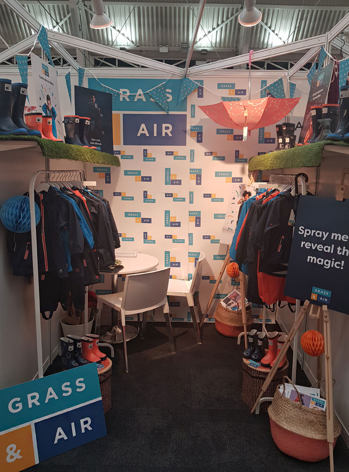 grass & air exhibition stand at Bubble London