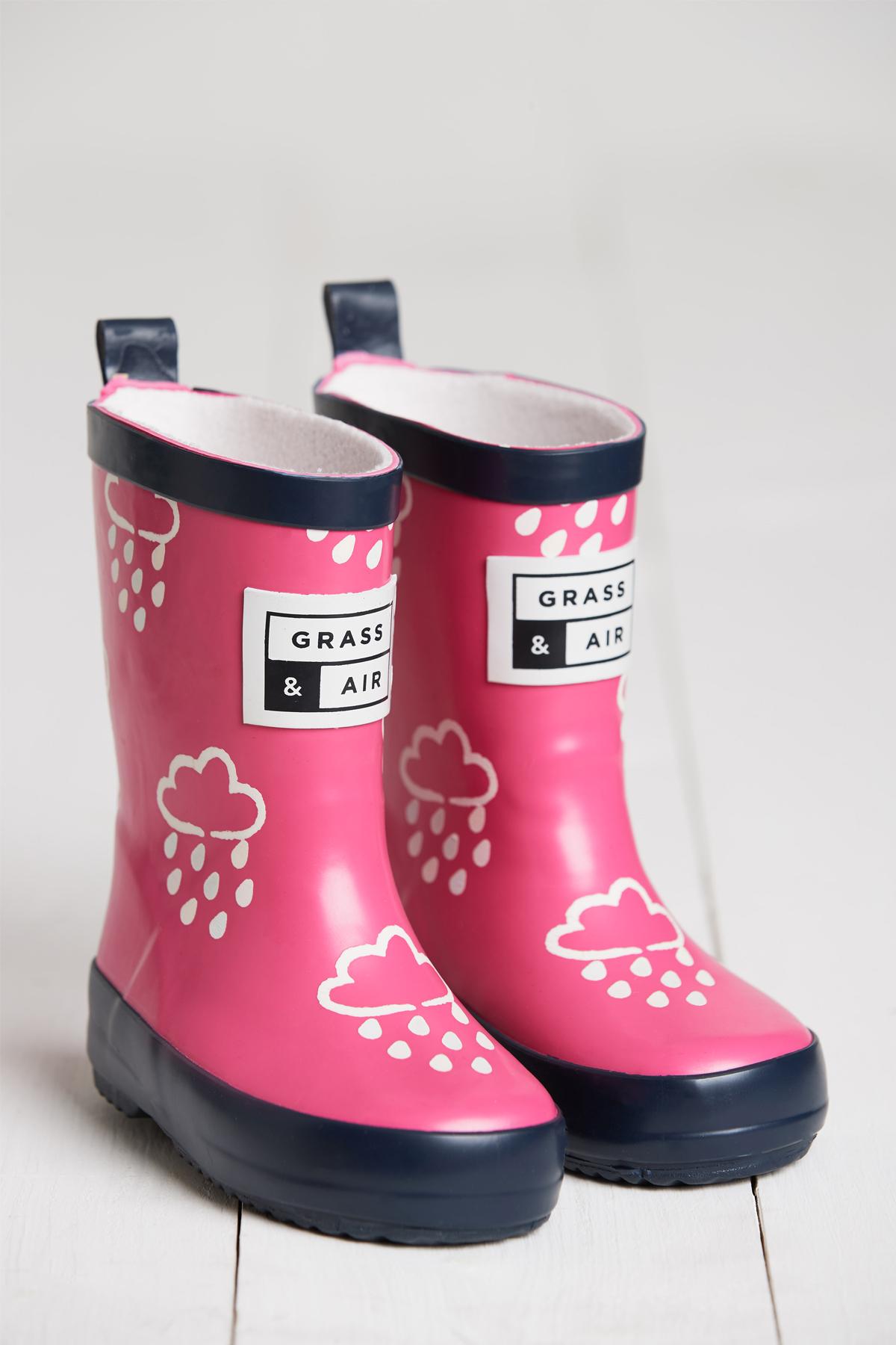 ac12cd9ed Little Kids Pink Wellies | Kids Wellies | Grass & Air