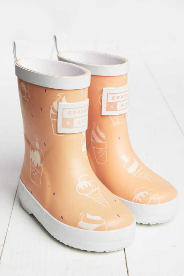 orange wellies