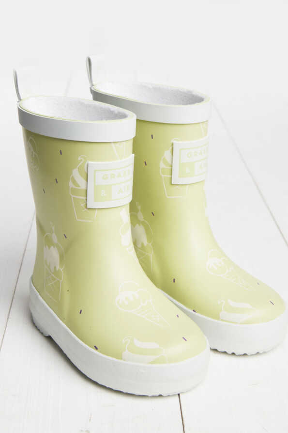 lime green wellies