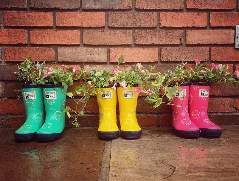 recycle old wellies