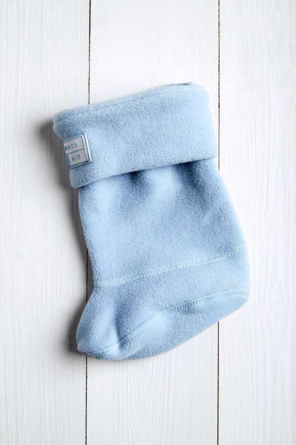 baby blue kids welly socks