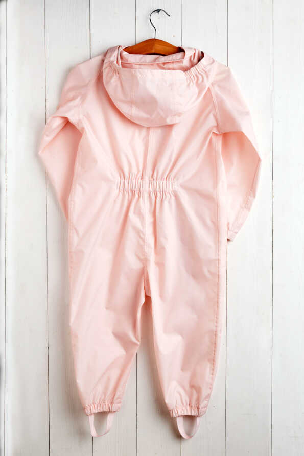 baby pink puddlesuit