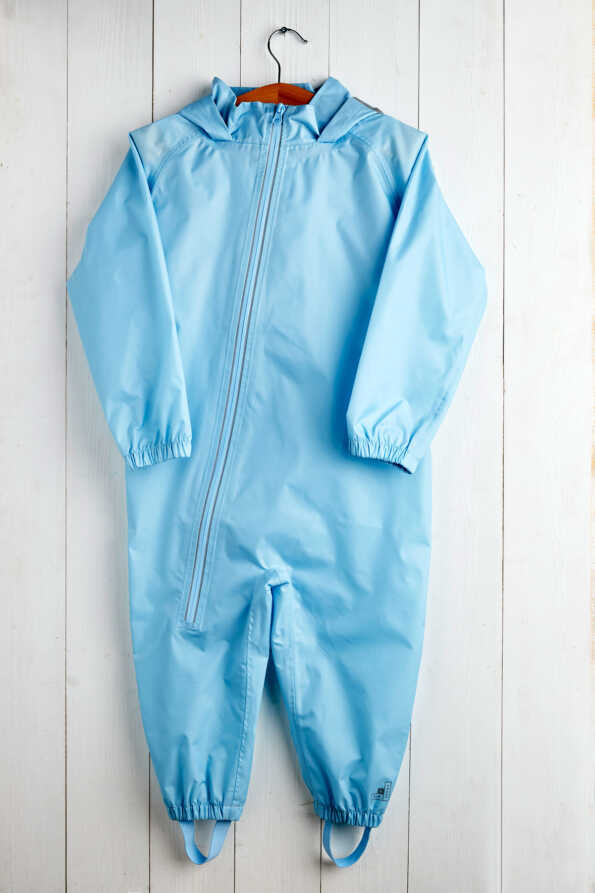 light blue kids puddlesuit