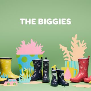 ✨You're never too old for a Grass & Air colour revealing welly with The Biggies collection, available from infant size 8 through to size 5.  Little feet, big feet. Somewhere in between feet. Now we have sizing that's suitable from baby's first boot up to those aged 11ish. ✨#TheBiggies #kidswellies #kidswear #childrenswear #kidsfashion #newcollection